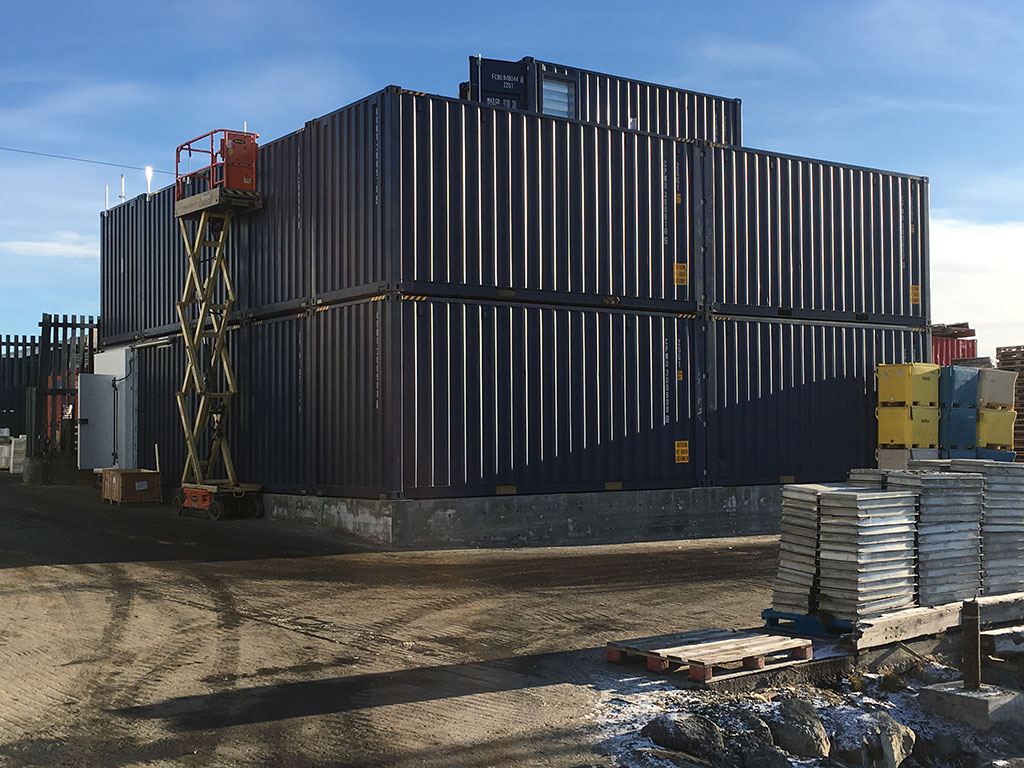 Freezer storage for fishing industry - Greenland