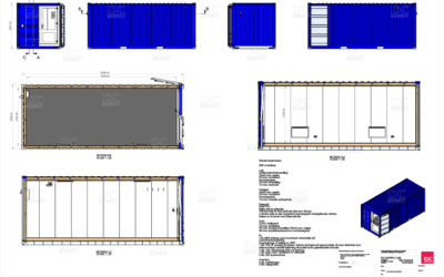 20 ft office container – CSC approved