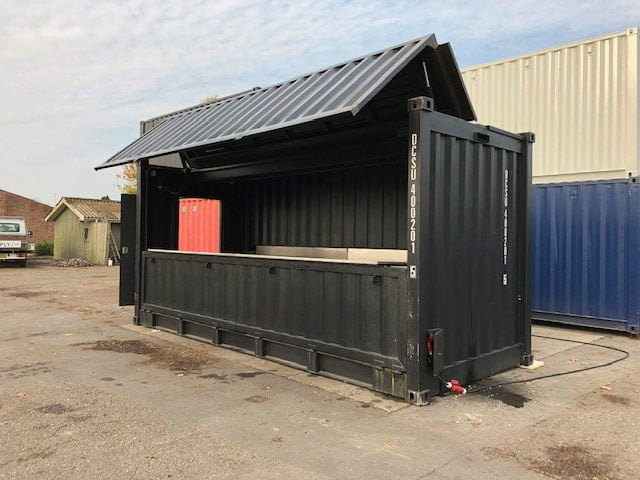 20 ft hydraulic bar container