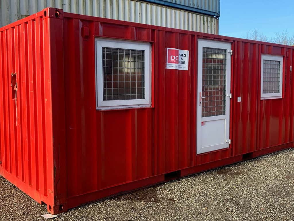 Accommodation container model 2032 w/ 2 rooms- DKK 55,000 ex. VAT