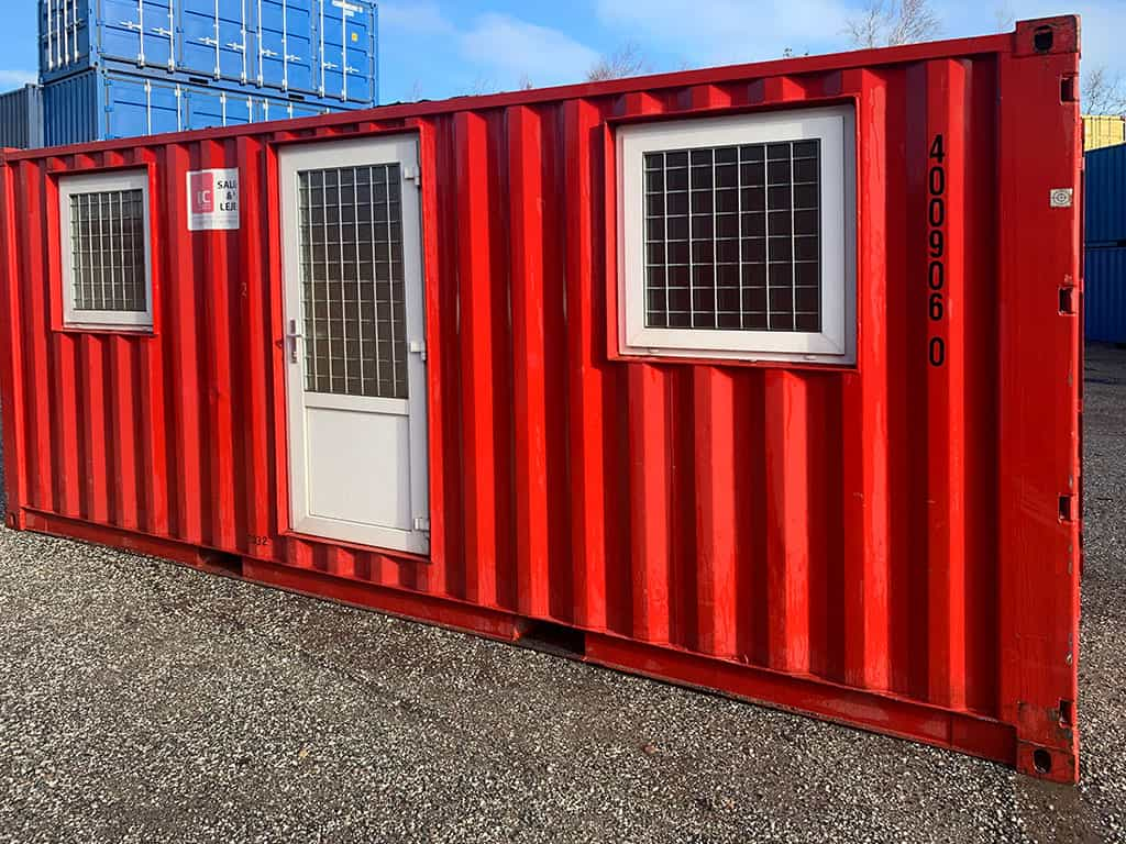 Accommodation container model 2032 w/ 2 rooms- DKK 46,500 ex. VAT